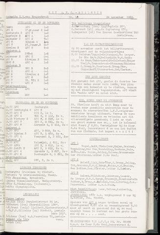 Bulletins (vnl. opstellingen) 1959-11-24