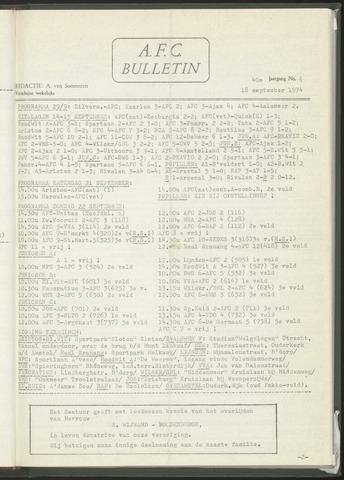 Bulletins (vnl. opstellingen) 1974-09-18
