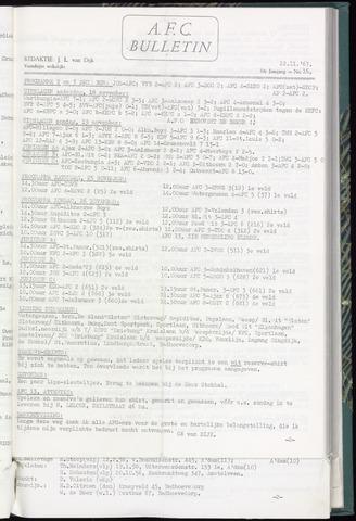 Bulletins (vnl. opstellingen) 1967-11-22