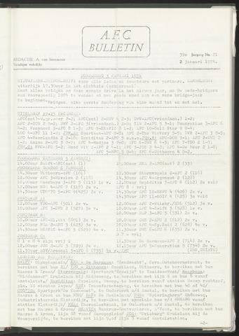 Bulletins (vnl. opstellingen) 1974-01-02