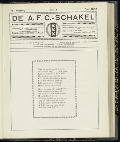 Schakels (clubbladen) 1932-12-01