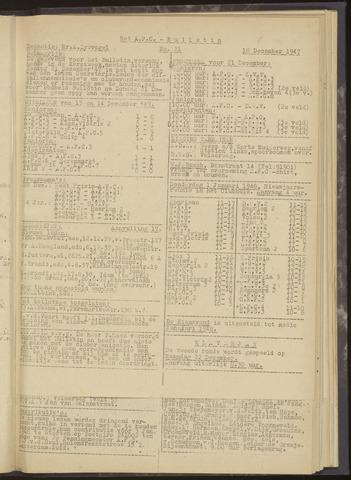Bulletins (vnl. opstellingen) 1947-12-18