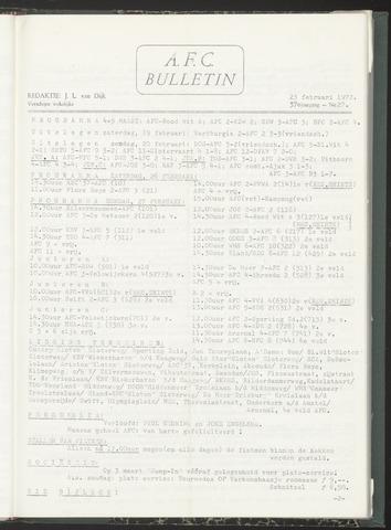 Bulletins (vnl. opstellingen) 1972-02-23