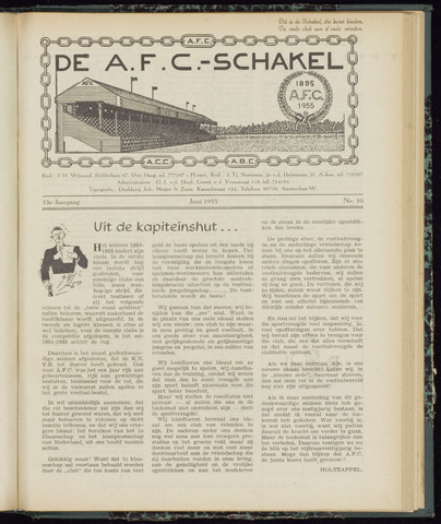 Schakels (clubbladen) 1955-06-01