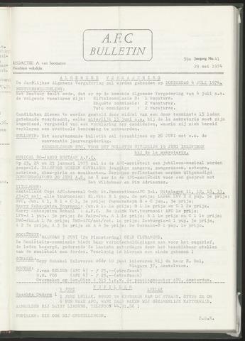 Bulletins (vnl. opstellingen) 1974-05-29