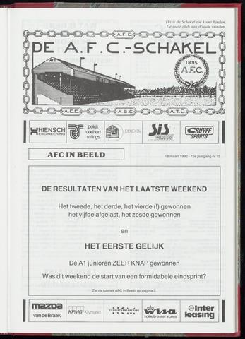 Schakels (clubbladen) 1992-03-18