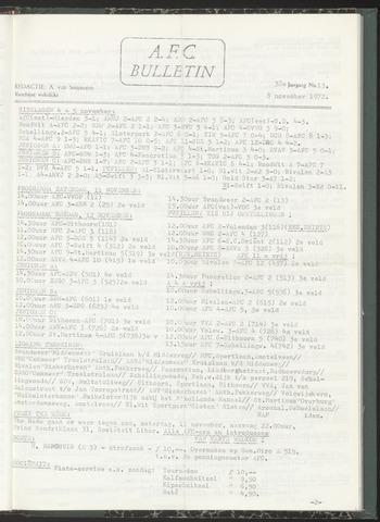 Bulletins (vnl. opstellingen) 1972-11-08