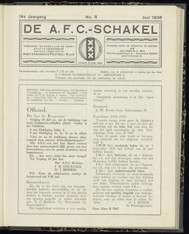Schakels (clubbladen) 1936-06-01