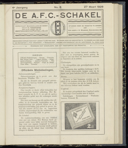 Schakels (clubbladen) 1926-03-27