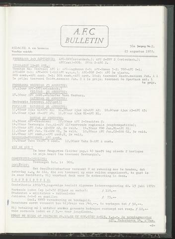 Bulletins (vnl. opstellingen) 1972-08-23