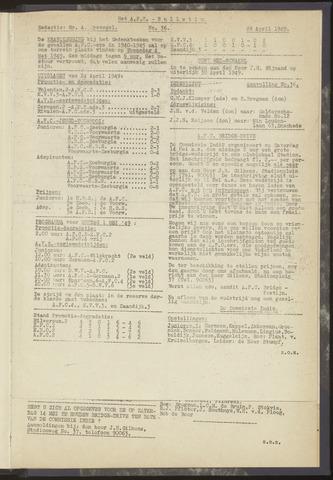 Bulletins (vnl. opstellingen) 1949-04-21