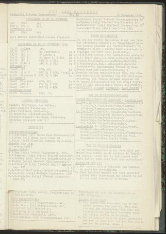 Bulletins (vnl. opstellingen) 1954-11-16