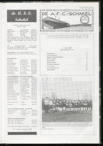 Schakels (clubbladen) 1986-06-11