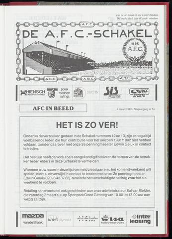 Schakels (clubbladen) 1992-03-04