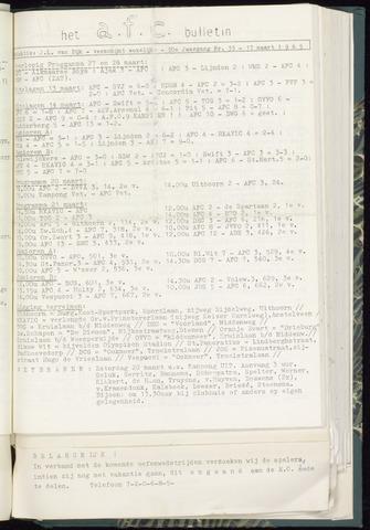 Bulletins (vnl. opstellingen) 1965-03-17