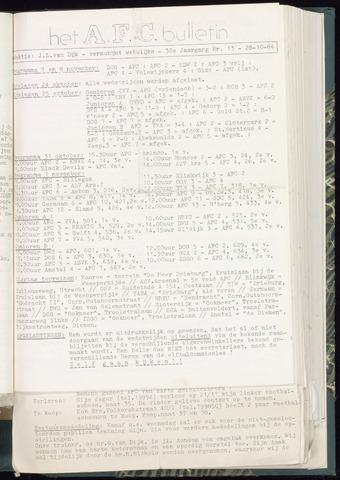 Bulletins (vnl. opstellingen) 1964-10-28