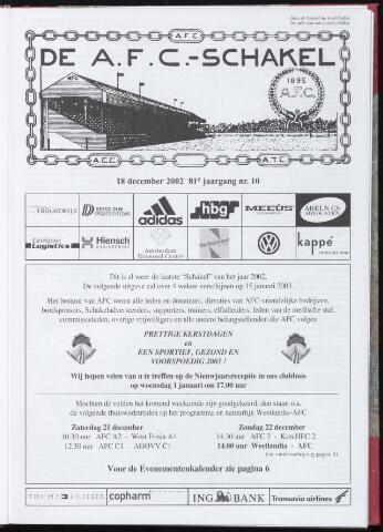Schakels (clubbladen) 2002-12-18
