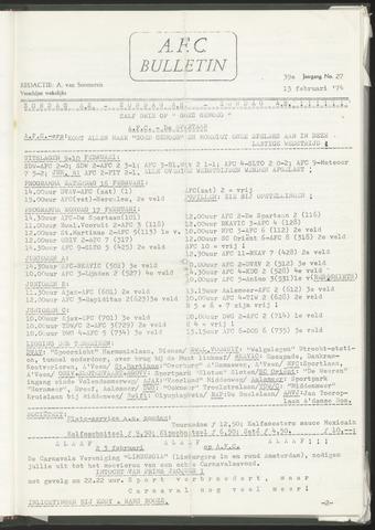 Bulletins (vnl. opstellingen) 1974-02-13