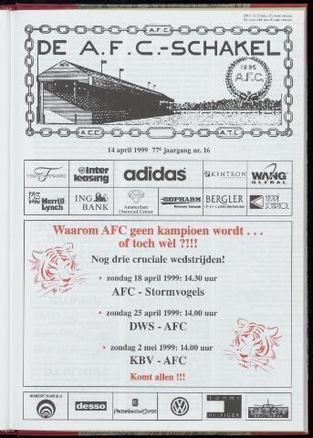 Schakels (clubbladen) 1999-04-14