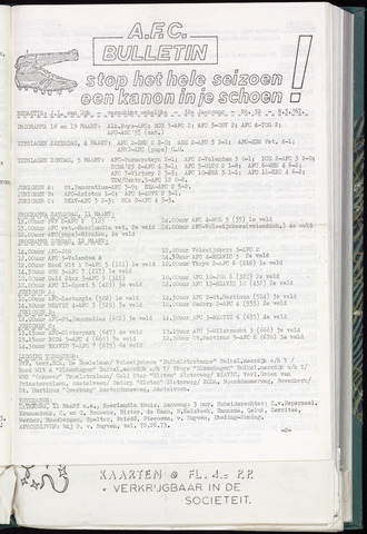 Bulletins (vnl. opstellingen) 1967-03-08