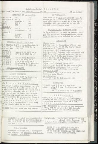 Bulletins (vnl. opstellingen) 1960-04-26