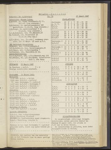 Bulletins (vnl. opstellingen) 1947-03-27