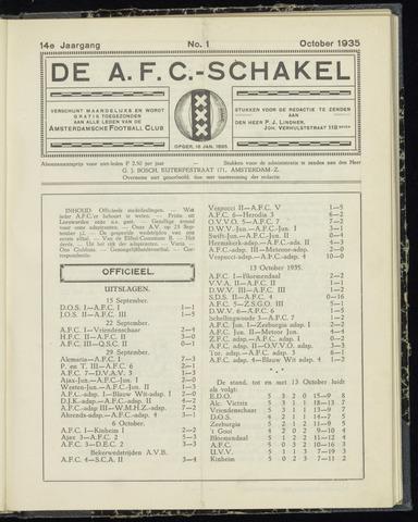 Schakels (clubbladen) 1935-10-01
