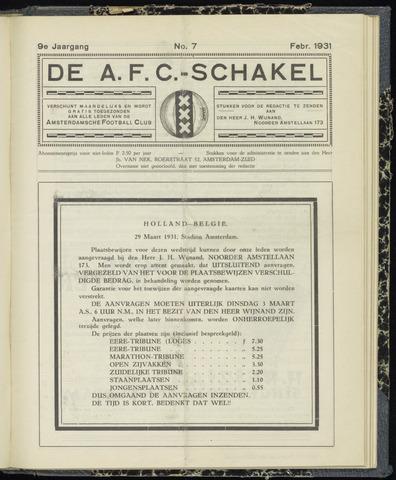 Schakels (clubbladen) 1931-02-01