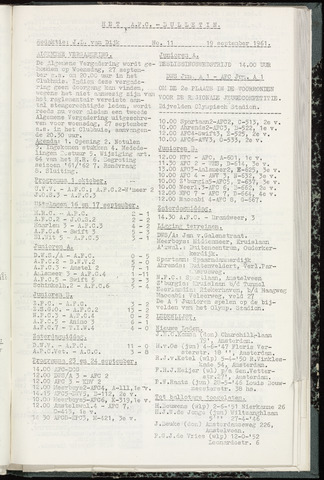 Bulletins (vnl. opstellingen) 1961-09-19