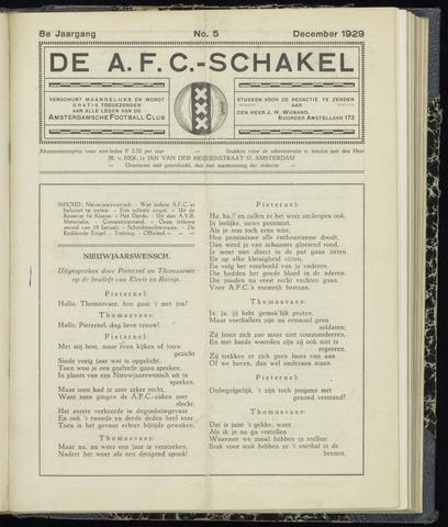 Schakels (clubbladen) 1929-12-01