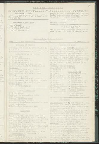 Bulletins (vnl. opstellingen) 1956-02-14