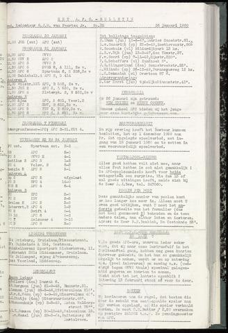 Bulletins (vnl. opstellingen) 1960-01-26