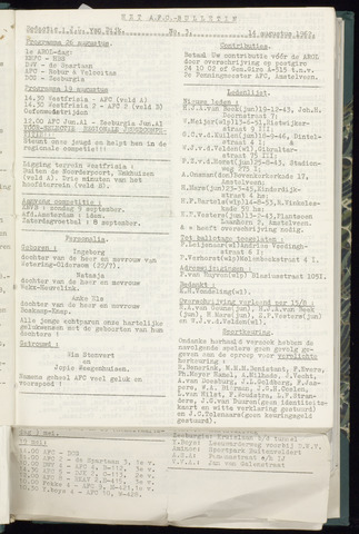 Bulletins (vnl. opstellingen) 1962-08-14