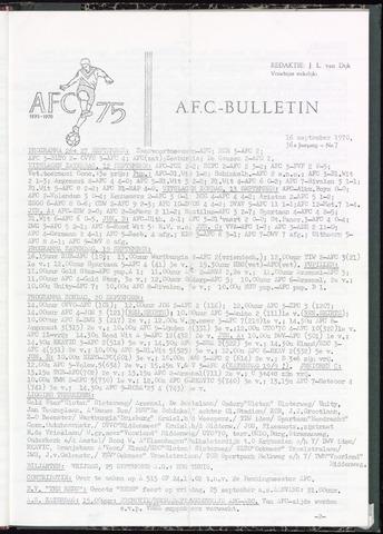 Bulletins (vnl. opstellingen) 1970-09-16