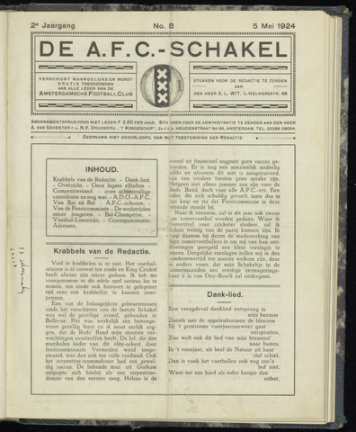 Schakels (clubbladen) 1924-05-05