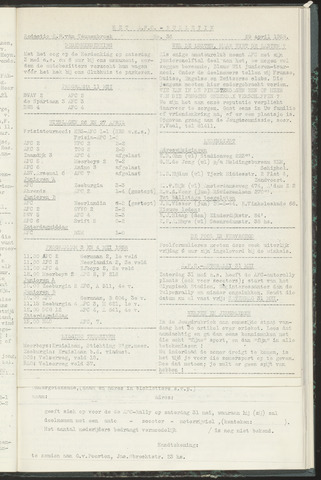 Bulletins (vnl. opstellingen) 1958-04-29