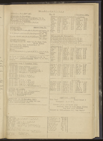 Bulletins (vnl. opstellingen) 1947-12-04