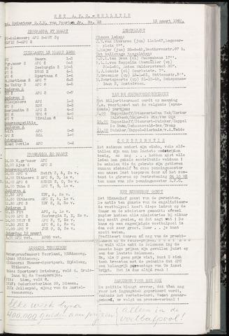 Bulletins (vnl. opstellingen) 1960-03-15