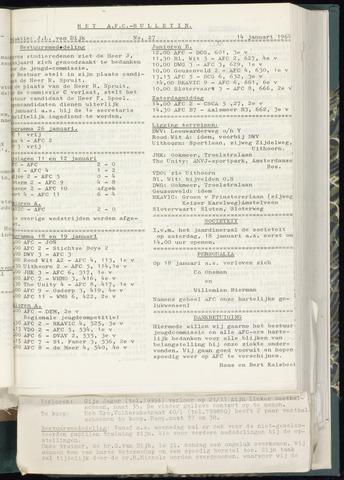 Bulletins (vnl. opstellingen) 1964-01-08