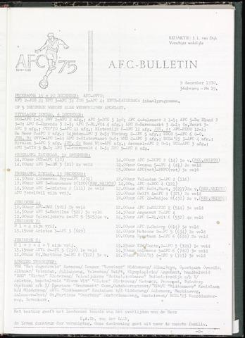 Bulletins (vnl. opstellingen) 1970-12-09