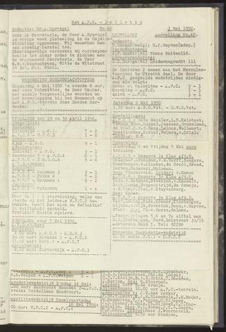 Bulletins (vnl. opstellingen) 1950-05-03