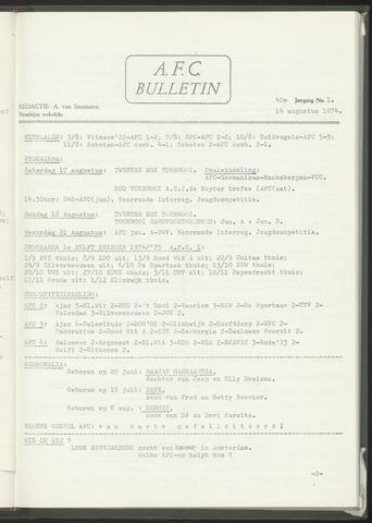 Bulletins (vnl. opstellingen) 1974-08-14