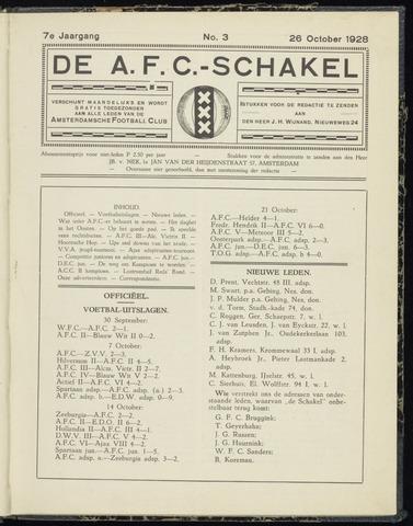 Schakels (clubbladen) 1928-10-26