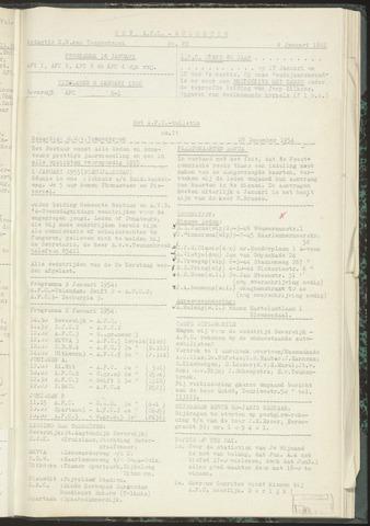 Bulletins (vnl. opstellingen) 1954-12-28