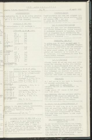 Bulletins (vnl. opstellingen) 1958-04-22