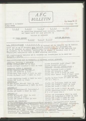 Bulletins (vnl. opstellingen) 1974-12-04