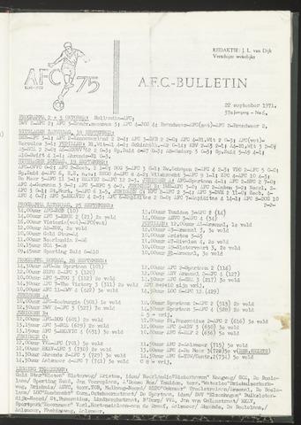 Bulletins (vnl. opstellingen) 1971-09-22