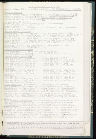 Bulletins (vnl. opstellingen) 1965-10-06