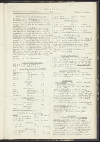 Bulletins (vnl. opstellingen) 1952-09-16