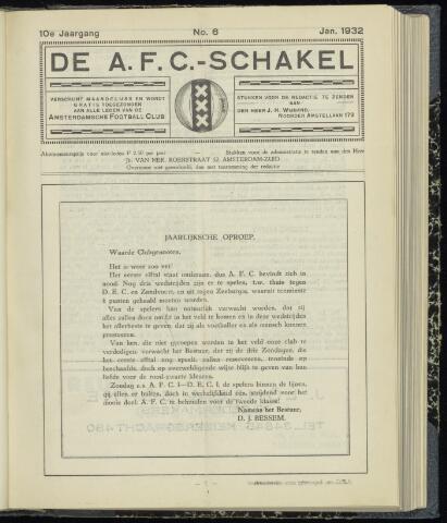 Schakels (clubbladen) 1932